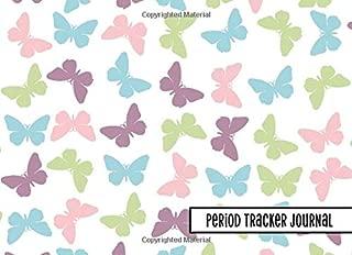 Period Tracker Journal: 4-Year PMS Symptom & Menstrual Cycle Tracking Notebook for Teen Girls & Women: Butterflies