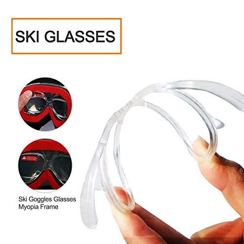 Farmer-W skibril, snowboardbril, sneeuwbril, anti-condens-skibril voor mannen en vrouwen, met dubbele laagse voorruit, sferische anti-condensring