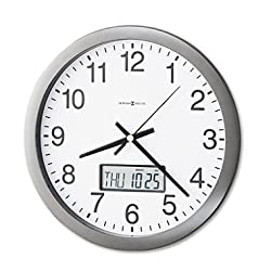 Chronicle 14 Wall Clock with LCD Inset, Gray