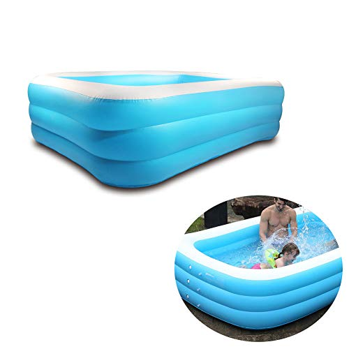 suonabeier Sable Inflatable Pool, Blow Up Family Full-Sized Pool for Kids, Toddlers, Infant & Adult, Swim Center for Ages 3+, Outdoor, Garden, Backyard, Summer Water Party