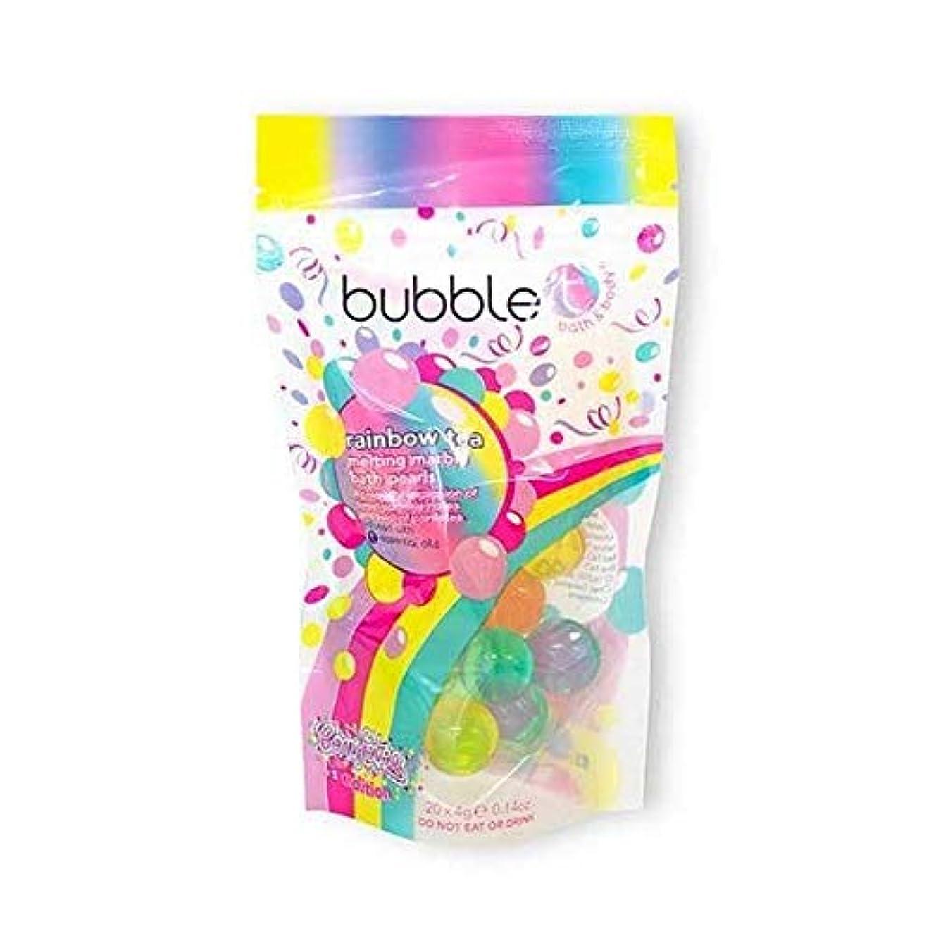 ケージ望まない看板[Bubble T ] バブルトン化粧品溶融槽真珠虹茶20×4グラム - Bubble T Cosmetics Melting Bath Pearls Rainbow Tea 20 x 4g [並行輸入品]
