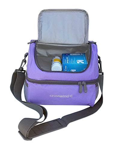 buy Large Insulated Travel Cooler for Medicine (Black) Diabetes Care