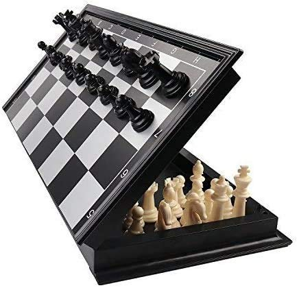 Tumtum Magnetic Chess Board Game Set For Kids & Adults With Folding Design / Indoor Outdoor Educational Travel Toys (9.5 Inch,Multicolor)