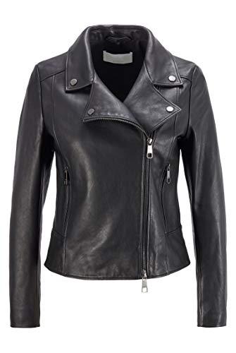 BOSS Damen C Sajuana1 Lederjacke im Biker-Stil aus Olivenleder®