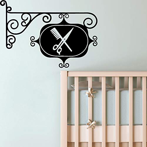 Klassische Barber selbstklebende Tapete für Kinderzimmer Wohnkultur Diy Pvc Wohnkultur Gelb L 43cm X 64cm
