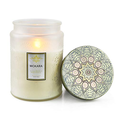 YMing Large Scented Candles 16 OZ, 150H Burn Time with Fresh Scent of Mokara for Sweet Home Fragrance in Large metal Tin, Gifts for women