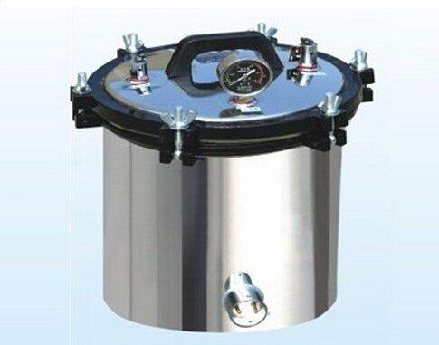 GOWE portátil (carbón y eléctrica) tipo presión inoxidable vapor esterilizador 8L fuente de alimentación: 220V