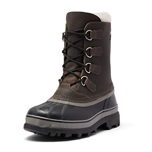 Sorel Men's Caribou WL Wool Boot - Light Rain and Heavy Snow - Waterproof - Quarry, Black - Size 11.5