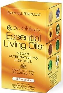 Dr. Ohhira's Essential Living Oils - 60 Capsules - A Vegan Alternative to Fish Oil