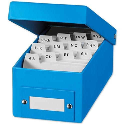 MW Handel 55462-BL Lernbox DIN A8 mit 400 Kärtchen, blau