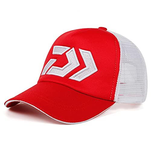 UKKD Gorra De Béisbol Sombrero De Verano Tapa Transpirable Malla De Malla Visera Ventilación Sombrero De Sol-Red