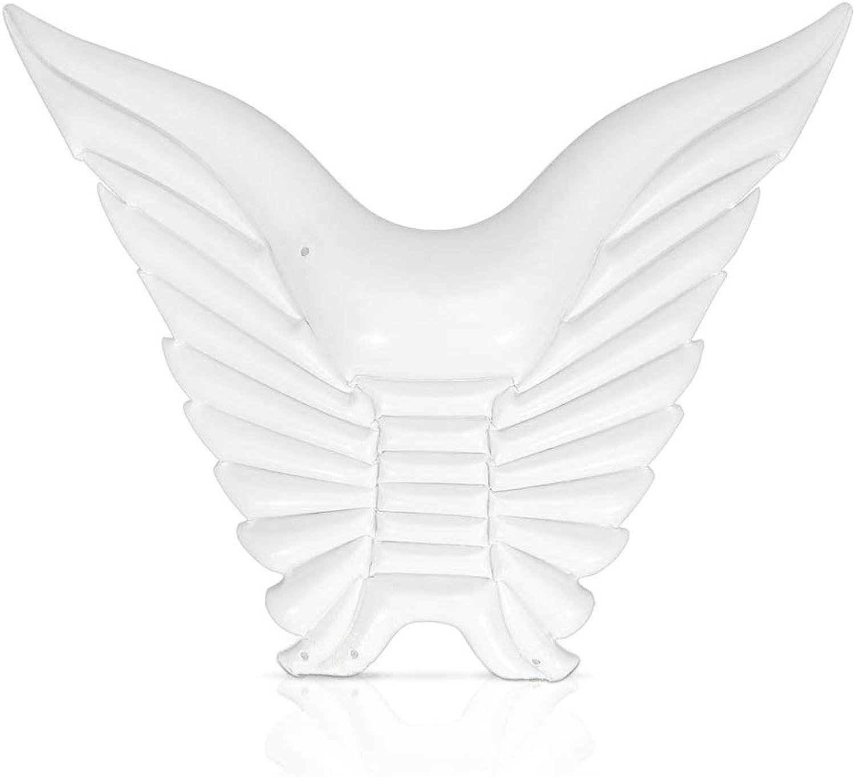 Aufblasbare Pool Float Aufblasbare Wasser Float Angel Wings Aufblasbare Schwimmflo Pool Lounger Butterfly Swimming Ring,Weiß