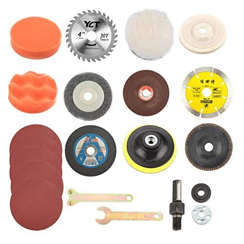 Disco adhesivo Rueda de pulido Múltiples funciones Disco de corte Rueda de disco de aleta Herramienta de conversión de taladro para eliminación de óxido, tallado en madera, pulido
