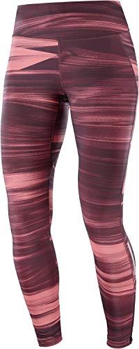 SALOMON Agile Long Tight W Mallas para Running, Granate (Winetasting), Talla L para Mujer
