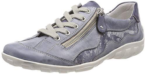 Remonte Damen R3416 Sneaker, Blau (Jeans/Jeans/Silver 14), 40 EU