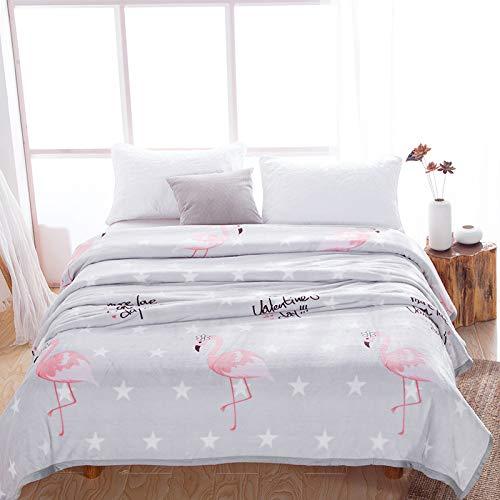 KAINUYA Manta De Franela Thicken Warm Mink Fleece Manta Falai Fleece Blanket Coral Fleece Sheet Cover Blanket 180 * 200cm Flamenco