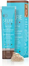 Selfie Tan'n Go Instant Face Bronzer with Wash Off Formula - Sunless Self Tanner (Medium Tan) Rich & Exotic Looking, Fragrance-Free Tan for All Skin Types, 1 oz