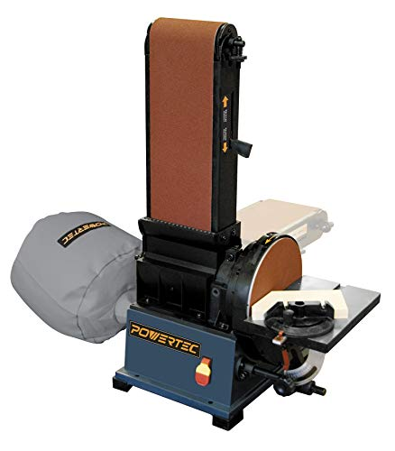 POWERTEC BD6900 Woodworking Belt Disc Sander Machine w/ Built-In Dust Collection System