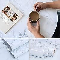 Fvviia 大理石シール壁紙シール 40x500cmステッカーデスクトップキャビネット厚く家具改修ステッカーキャビネットワードローブ装飾壁紙防水壁紙