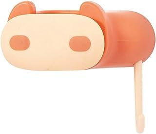 VORCOOL ウォールマウントモップホルダー自己粘着ほうきホルダーモップグリッパーハンガークリーニングツールラック用キッチン浴室ガーデンガレージオレンジ豚
