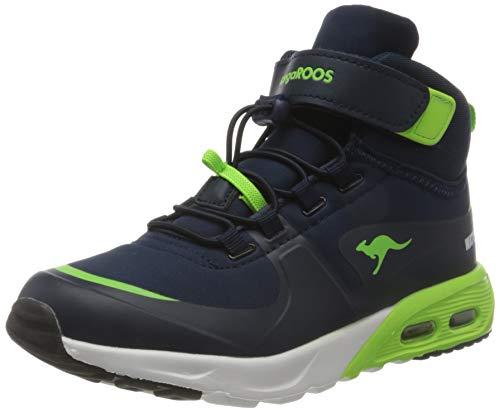 KangaROOS Jungen KX-Hydro Sneaker, Blau (Dk Navy/Lime 4054), 35 EU