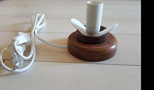 Straußenei-Lampenständer Holz