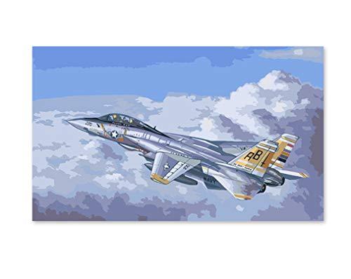 ZGAzhe Pintura Digital Relleno De Color Regalo Hecho A Mano Decoración Militar Militar De La Segunda Guerra Mundial Portaaviones Caza