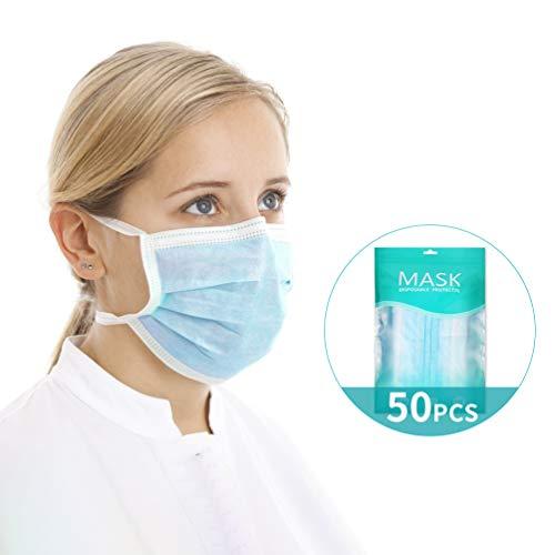 Filtro Médico Protección de 3 Capas Filtros Quirúrgicos Desechables Antipolución (50 piezas)