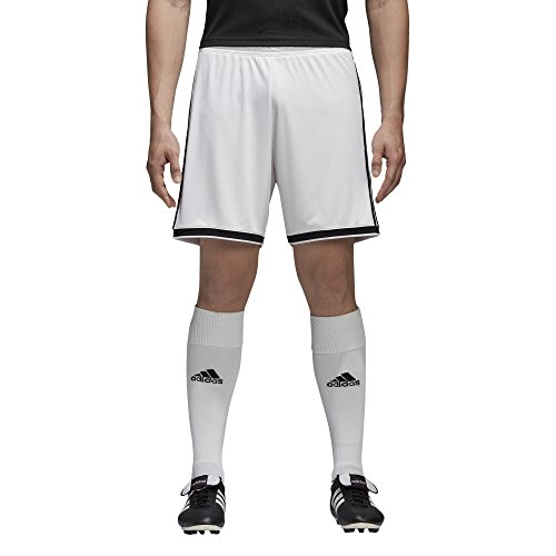 adidas Men's Regista 18 Soccer Shorts, White/Black, Large