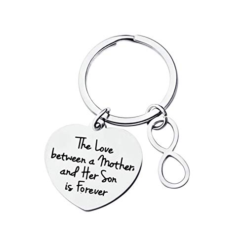 Malinmay Key Rings Chain, Stainless Steel Keychain Tag Engraved'BOYFRIEND'