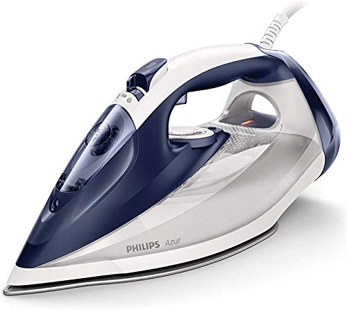 Philips Azur GC4541/20 - Plancha Ropa Vapor 2400 W, Golpe de Vapor de 200 g, 45 g/min de Vapor Continuo, Limpieza de cal en 15 segundos, Autoapagado, Azul y Blanco