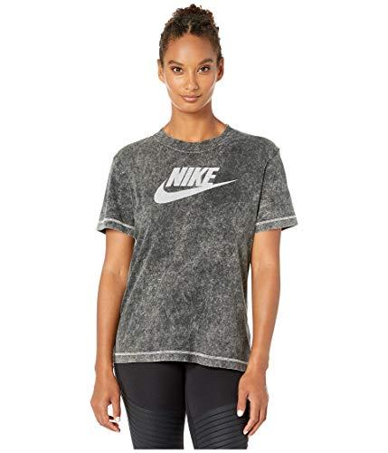 Nike W NSW SS Top Rebel Camiseta, Mujer, Black, S