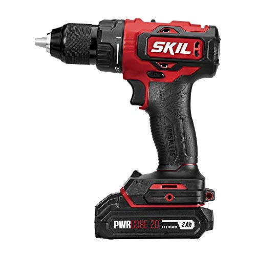SKIL PWRCore 20 Brushless 20V 1/2 Inch Drill Driver, Includes 2.0Ah Lithium Battery and Standard Charger - DL529303