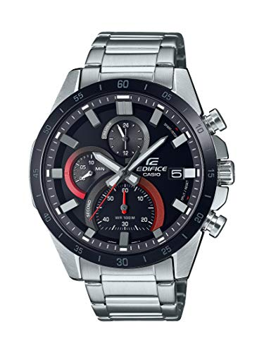 Casio Men's Quartz Stainless Steel Strap, Silver, 22 Casual Watch (Model: EFR-571DB-1A1VCR)