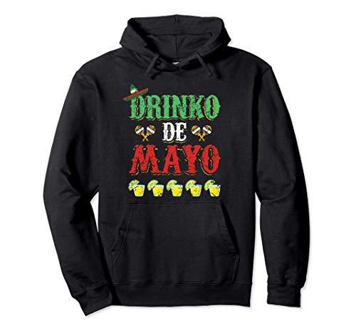 Drinko de Mayo Tequila Mexico Cinco de Mayo Fiesta Design Felpa con Cappuccio