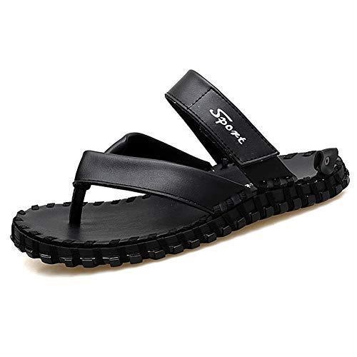 Lederschuhe, Freizeitschuhe, geeignet für viele Schöne Hausschuhe Fashion Slipper for Herren Flip-Flop-Schuhe Schlüpfen Mikrofaser Leder-einfache reine Farben-wasserdicht