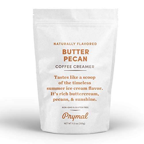 PRYMAL Coffee Creamer - Non Dairy, Keto, Sugar Free - Butter Pecan - 100% Natural, Non Refrigerated Powder with MCT - 11.3oz Bag