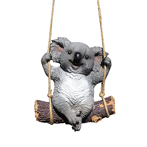Koalabär - Figuras de jardín para exteriores, estatuas creativas de jardín, animales de polirresina, decoración para exteriores, simpática y divertida, escultura, paisaje, patio o terraza.