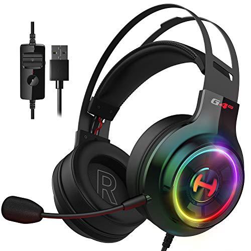 Edifier G4 TE Gaming Headset mit Mikrofon Over-Ear-Gaming-Kopfhörer für PC, Computer-Headset Surround-Sound Gaming Headphones (Schwarz)