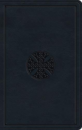 ESV Large Print Value Thinline Bible (TruTone, Navy, Mosaic Cross Design)