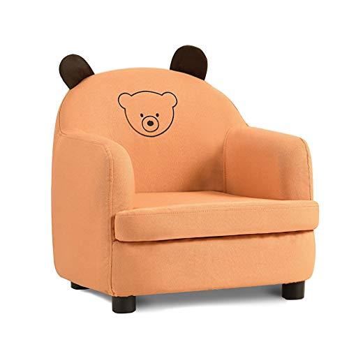 Gros Fauteuils Mousse Écologique Organisateur De Jouets Canapé Pour Enfants À Partir De 3 Ans Unisexes Jaune (Color : Bear)
