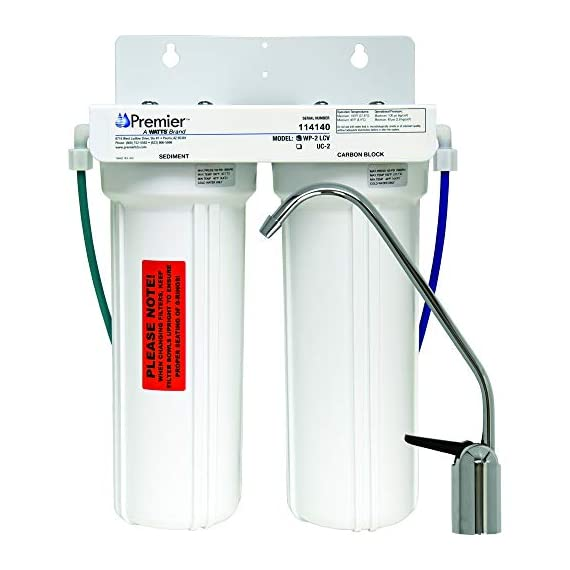 Watts premier 2-stage undercounter lead cyst & voc reducing drinking water system, wp500313 1 two-stage filtration system that is easy to install in homes and apartments removes entamoeba cryptosporidium and giardia from the water reduces simazine, atrazine, benzene, trihalomethanes (tthm), lindane, xylenes and more