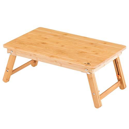 bamcan ローテーブル 折りたたみ ベッド 簡易テーブル センターテーブル ミニテーブル ラップデスク ノートパソコン 机 コーヒーテーブル 座卓 子供 テーブル キャンプテーブル 高さ調節可能 (55*35cm)
