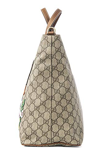 Fashion Shopping Gucci GG Supreme Peacock Brown Tote Leather Floral Bag Bird Handbag