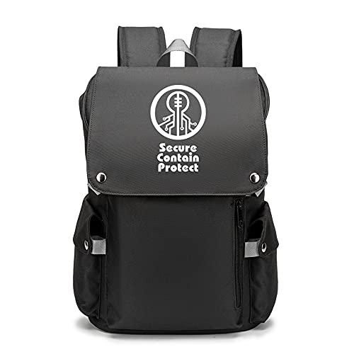 SCP Anime | Mochila juvenil con patrones personalizados para portátil de viaje, mochilas escolares para camping al aire libre, Opciones 3, Rojo,