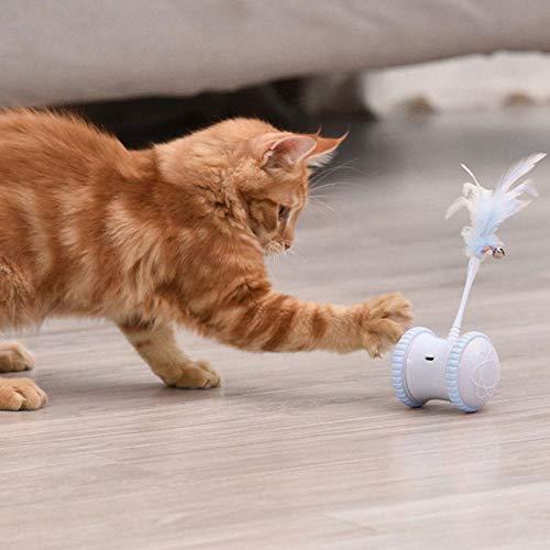 N/H Interaktives Elektronisches Katzenspielzeug USB-Aufladung 360 Grad Selbstdrehender Ball Automatisches Federkatzenspielzeug Für Katzenkätzchen