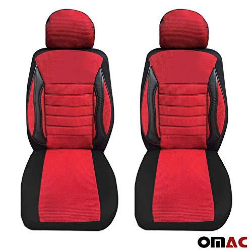 OMAC GmbH - Fundas de asiento para VW T5 T6 Transporter Multivan, color rojo y negro