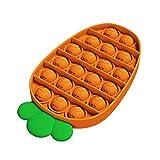 Push Pop Bubble - 2 juguetes sensoriales para aliviar el estrés, para aulas tranquilas, para niños y adultos, alivio de la ansiedad, juguetes para los dedos