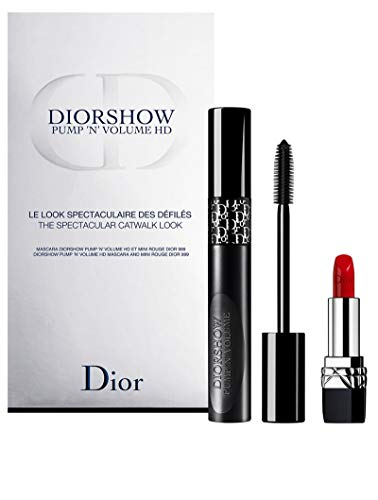Christian Dior Diorshow Pump'n'Volume Augen Make-up Set (Mascara,10ml+Lippenstift Mini Rouge Dior 999)
