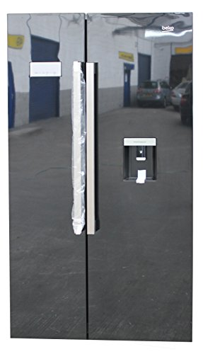 Beko ASD241 Freestanding American Style Fridge Freezer Black ASD241B, 554 liters